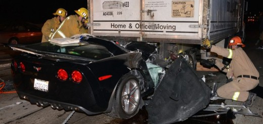 Corvette Z06 Box Truck Crash